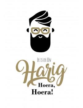 Pakket van 8: Verjaardagskaart hipster baard