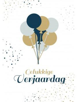 Pakket van 10: Verjaardagskaart ballonnen