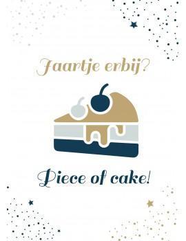 Pakket van 8: Verjaardagskaart piece of cake
