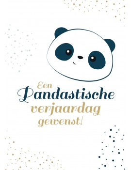 Pakket van 8: Panda verjaardagskaart