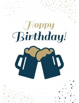 Pakket van 8: Hoppy Birthday verjaardagskaart
