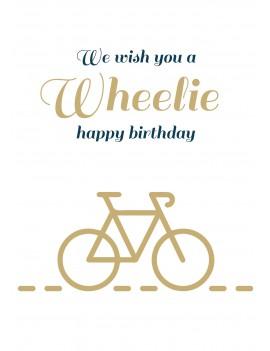 Pakket van 8: Wheelie happy birthday