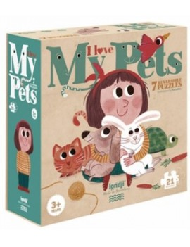 I love my pets puzzel (3+) - Londji