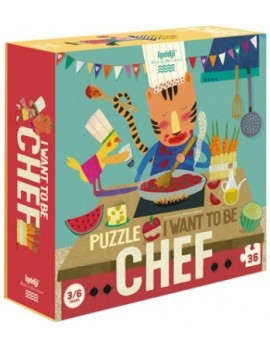I want to be a chef puzzel (3+) - Londji
