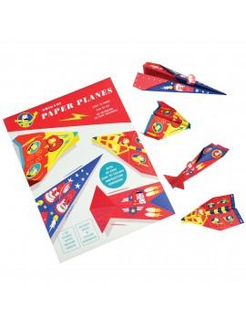 Papieren vliegtuigjes vouwset - Rex London