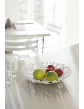 Design fruitschaal wit metaal - Yamazaki