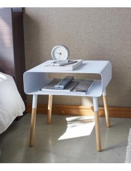 Lage bijzettafel wit met hout - Yamazaki