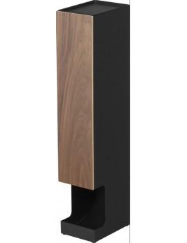Toiletrol houder metaal en hout - Yamazaki