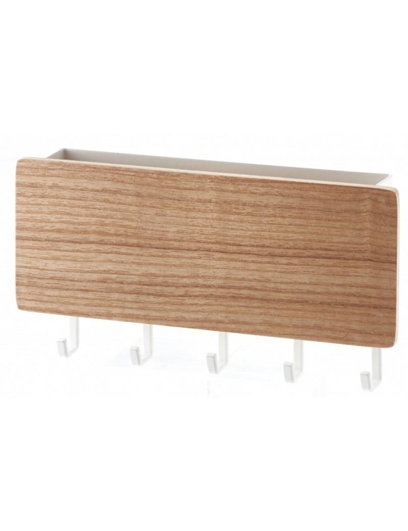Magnetisch sleutelkastje wit met haakjes - Yamazaki
