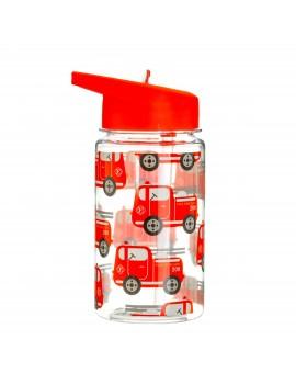 Waterfles met rietje brandweerwagen - Sass & Belle
