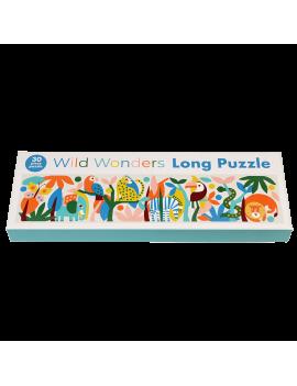 Wilde dieren lange puzzel 30st - Rex London