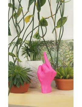 Roze middelvinger beeldje - Bitten Design
