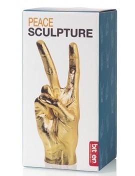 Gouden peace beeldje - Bitten Design