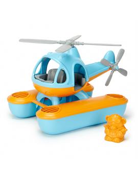 Speelgoed zee helicopter blauw/oranje- Green Toys