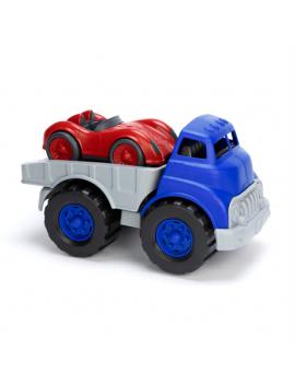 Auto transportwagen met raceauto - Green Toys