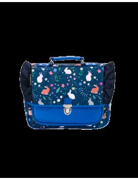 Blauwe kleuterboekentas met konijntjes - Caramel et Cie