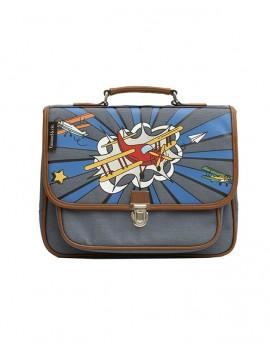 Kleuterboekentas met vliegtuig - Caramel et Cie
