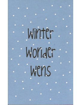 kaart 'Winter Wonder Wens'