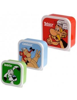 Astérix en Obelix brooddoos set van 3 - Puckator