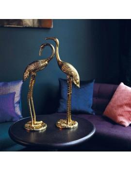 2 Gouden beelden kraanvogel - &Klevering