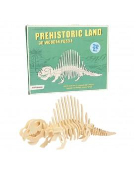 Dino houten 3D puzzel dimetrodon