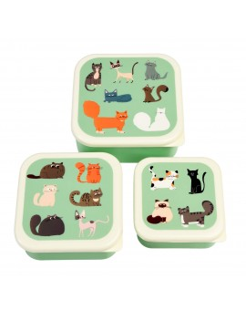 Katten snackdoosjes set van 3 - Rex London