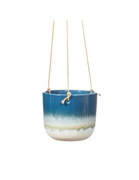 Hangende bloempot mojave blauw - Sass & Belle