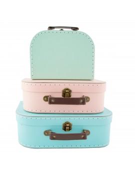 Set van 3 retro koffertjes - Sass & Belle
