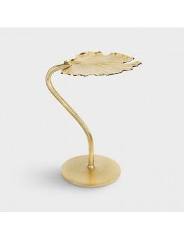 Ginkgo gouden bijzettafel met blad - &Klevering