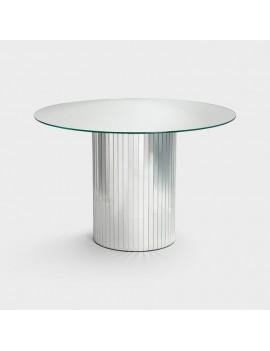 Zilveren bijzettafel uit glas - &Klevering