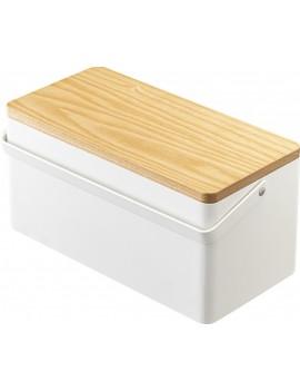 Witte naaidoos met hout - Yamazaki