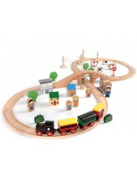 Houten trein speelgoedset - Green Toys