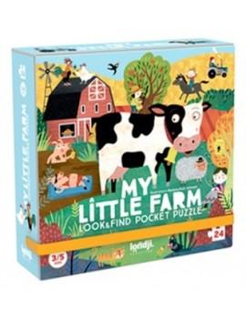 My little farm pocketpuzzel 3+ jaar - Londji