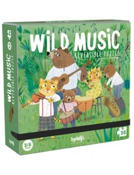 Omkeerbare puzzel wild music 3+ jaar - Londji