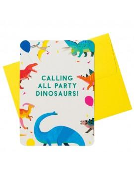 Dino verjaardagsfeest uitnodigingen - Talking Tables