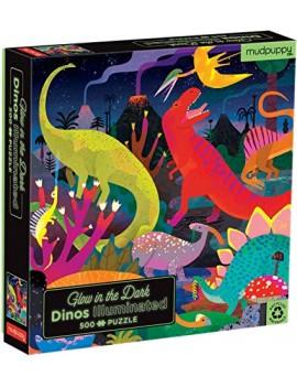 Grote dino puzzel glow in the dark - Mudpuppy