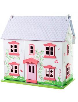 Houten poppenhuis roze - Green Toys