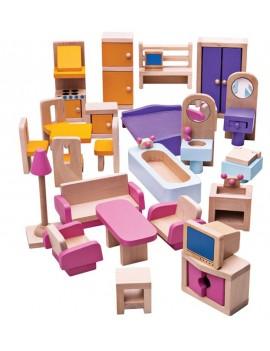 Meubelset voor poppenhuis - Green Toys