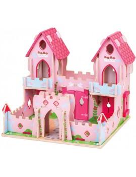 Speelgoed kasteel roze met prinses - Green Toys