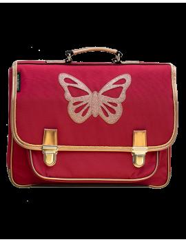 Boekentas met vlinder large - Papillon Rubis - Caramel et Cie