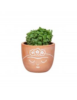 Kleine Frida Kahlo terracotta bloempot - Sass & Belle