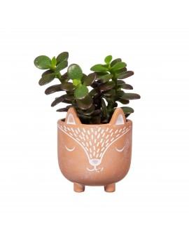 Terracotta bloempotje vos op pootjes - Sass & Belle