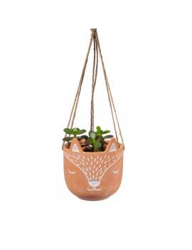 Hangende bloempot vos terracotta - Sass & Belle