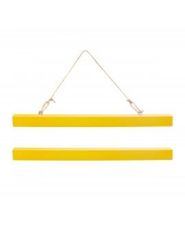 Geel ophangsysteem voor A4 posters - Sass & Belle