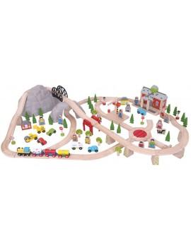 Houten speelgoedtrein bergen - Green Toys