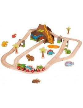 Houten speelgoedtrein dino - Green Toys