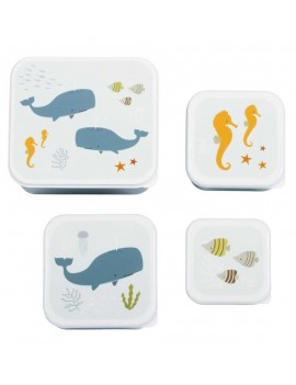 Oceaan snackdoosjes set van 4 - A Little Lovely Company