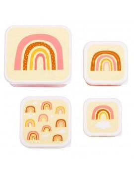 Regenboog snackdoosjes set van 4 - A Little Lovely Company