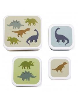 Dino snackdoosjes set van 4 - A Little Lovely Company