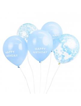 Blauwe ballonnen Happy Birthday - Talking Tables